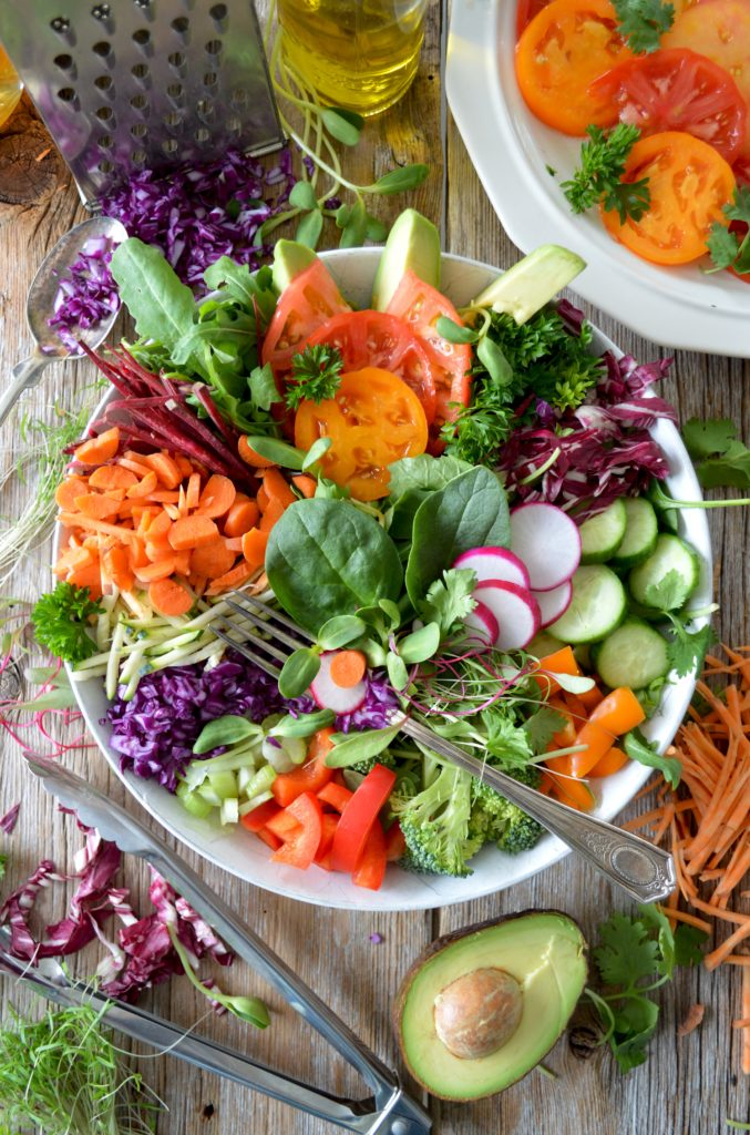 vegetable salad in a bowl